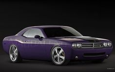 Dodge Challenger that I modified slightly with photoshop, by changing the color of the paint and the wheels. Cool Sports Cars, Dodge Challenger, Wheels, Photoshop, Bmw, Trucks, Paint, Vehicles, Awesome