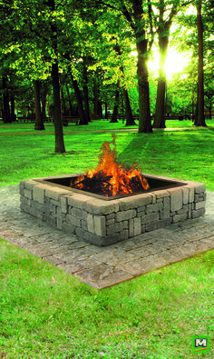 Add warm ambiance to your outdoor space with the Rustic Fire Pit. Constructed of Belgian Blocks, this DIY fire pit requires no cutting and can be assembled within an hour!