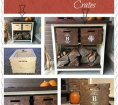 DIY Projects For Home Decorating: Turn Inexpensive Plain Jane Crates Into Fancy Deco...