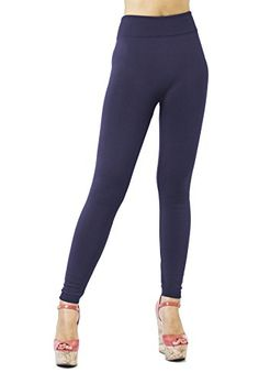 365f4ba218e DK Monarchy Womens Plus Size Seamless Full Length Leggings Dark Purple Thick  LXL 1220