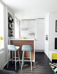 small apartment kitchen interior design project for dj studio int2 - Small Apartment Kitchen Design