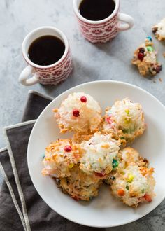 Chocolate Coconut M&M Macaroons are a sweet twist on a family favorite. Just a few simple ingredients and you will have a lovely coconut filled cookie.