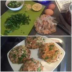 Aiming to eat #clean for the coming few weeks ... #homemade #salmon #fishcakes ready to be cooked - once they have set a little! #LowCarb by pavchahal