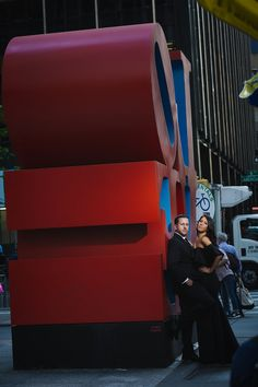 Love Sculpture NYC Engagement