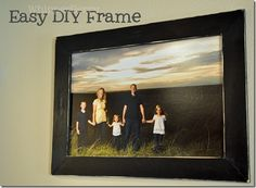 Make your own picture frame and I love the picture!