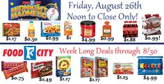It's a new week for sales at Food City, this Friday we have another…