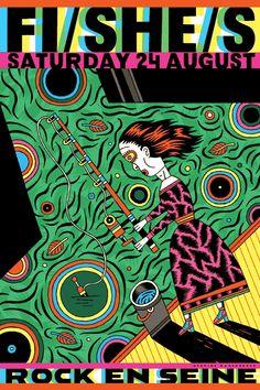 Henning Wagenbreth – Fi/she/s Pattern Illustration, Digital Illustration, Graphic Illustration, Graphic Art, Saul Bass, Pop Art, Typography Poster Design, Arte Popular, Art Design