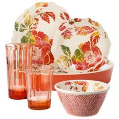 Target : Threshold™ Floral Dinnerware Collection - Coral : Image Zoom