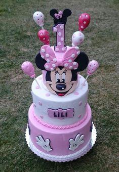 Minnie mouse birthday cake by AndyCake