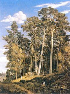 Сосновый лес 1866 91х70. Иван Иванович Шишкин