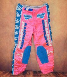 Vtg-Answer-Apparel-Motocross-BMX-Racing-Pants-sz-32-Pink