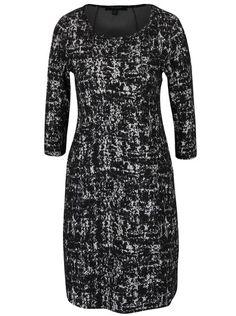 Černé vzorované strečové šaty s kapsami Fever London Logan Logan, Dresses With Sleeves, Formal Dresses, Long Sleeve, Sweaters, Fashion, Dark Around Eyes, Dresses For Formal, Moda