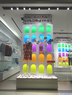 The new display of the Fendi Kids collection at the Marina Bay Sands boutique Singapore