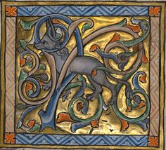 An Antelope with its Horns Entangled in a Bush, Bestiary ca. 1270