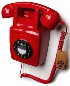 746 Wallphone GPO Red