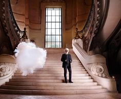 Karl Lagerfeld Berndnaut Smilde  Art with Floating Clouds