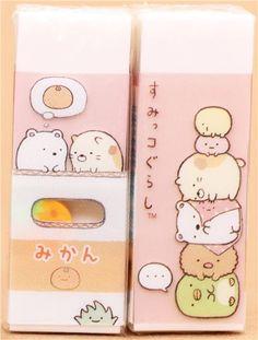 San-x Sumikko eraser mini die cut eraser NEW in plastic case Chandy