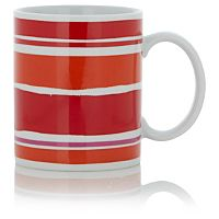 George Home Red Striped Mug   Cups & Mugs   ASDA direct