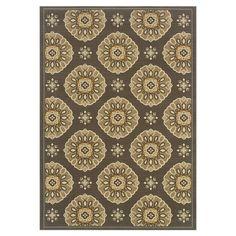Found it at Wayfair - Lisboa Geometric Floral Grey & Gold Rug