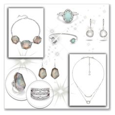 """""""Pearls + Silvers"""" by candibyamyh ❤ liked on Polyvore featuring Chloe + Isabel"""
