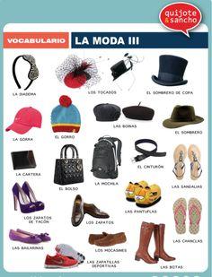 Moda 3. http://quijotesancho.com/vocabulario-2/ Descarga: http://www.quijotesancho.com/vocabulario/moda_3.pdf