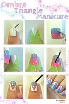 Ombre Triangle Manicure Tutorial