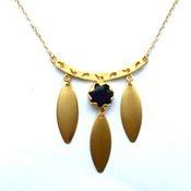 dyed jade + brass charm pendant - www.midnightdeer.com
