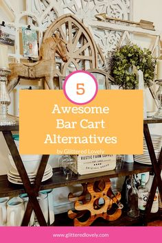If you are looking for a cheap bar cart Idea, I am sharing how you can turn anything into a multifunctional bar cart to use everyday!