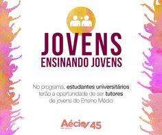 Jovens Ensinando Jovens: Aécio Neves vai criar o programa Jovens Ensinando Jovens, em que os estudantes universitários terão a oportunidade de ser tutores de jovens do Ensino Médio.