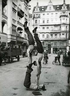 Acrobats in Berlin, 1933
