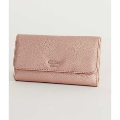 Guess Cate Wallet - Pink ($48) ❤ liked on Polyvore featuring bags, wallets, pink, fold-over crossbody bags, pink wallet, folding wallet, guess bags and guess wallets
