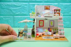 Diy Dollhouse, Dollhouse Miniatures, Diys, Make It Yourself, Frame, Picture Frame, Bricolage, A Frame, Doll House Miniatures