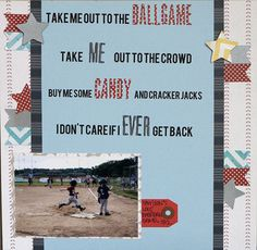 take me out to the ball game at Studio Calico