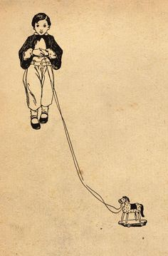 Illustration by Jessie Wilcox Smith from 'A Child's Garden of Verses' by Robert Louis Stevenson. Image features a child playing with a toy horse. http://www.amazon.com/gp/product/1447448952/ref=as_li_tl?ie=UTF8&camp=1789&creative=9325&creativeASIN=1447448952&linkCode=as2&tag=reaboo09-20&linkId=AIWWRJBS2GY4KE25