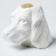DETAILS Devoted and loyal, this setter vase will embue a playful character to the living or study. Bean Bag Chair, Vase, Beanbag Chair, Vases, Bean Bag, Jars