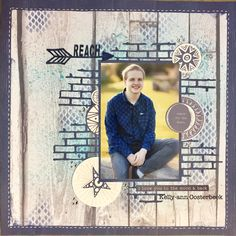 Scrapbooking layout by Kelly-ann Oosterbeek, created using the Star Gazer collection from Kaisercraft. Graduation Scrapbook, Birthday Scrapbook, Kids Scrapbook, Photo Album Scrapbooking, Recipe Scrapbook, Travel Scrapbook, Scrapbook Supplies, Scrapbook Albums, Scrapbooking Layouts