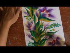 Pretty tree line road acrylic painting - YouTube