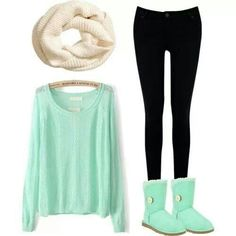 Minus the scarf, if I was going to school. If I was going to town then yeah, I would wear it.