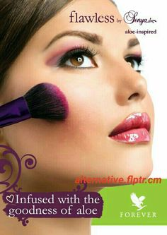 flawless by sonya - Infused with the goodness of Aloe Vera. Forever Living Aloe Vera, Forever Aloe, Forever Living Business, Natural Aloe Vera, Forever Living Products, Flawless Skin, Flawless Makeup, Natural Cosmetics, Makeup Forever