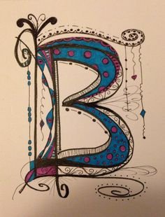 Working on the alphabet ... My Zen Tangle A
