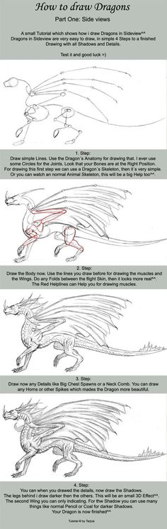 How to Draw Dragons ... this always looks easier then it is.. but maybe one day ill actually sit down and try it