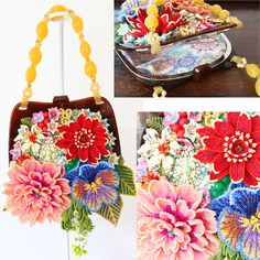 hand beaded purse ~nostalgia~ビーズのバッグ~ノスタルジア~by PieniSieni Handmade Handbags & Accessories - http://amzn.to/2ij5DXx