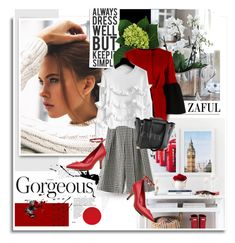 """Zaful.com: Gorgeous!"" by hamaly ❤ liked on Polyvore featuring Albino, women's clothing, women's fashion, women, female, woman, misses, juniors, dress and ootd"