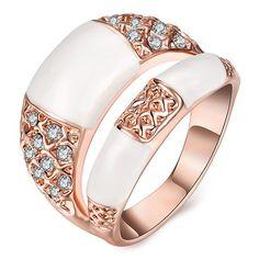Rhinestone Polished Resin Ring 3.91 USD