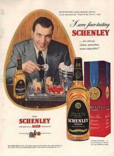 Schenley Reserve Whiskey Ed Sullivan (1949)