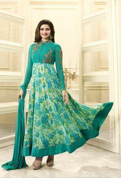 #Prachi #Desai In #Green #Abaya #Style #Salwar #Kameez #nikvik  #usa #designer #australia #canada #freeshipping