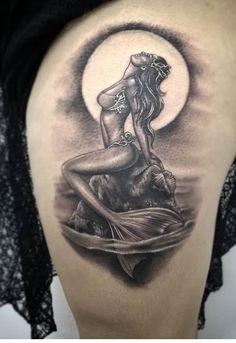 Top Tattoos, S Tattoo, Tatoos, Little Mermaid Tattoos, Mermaid Tattoo Designs, Marriage Tattoos, Nautical Tattoos, Airbrush Art, Tattoo Inspiration