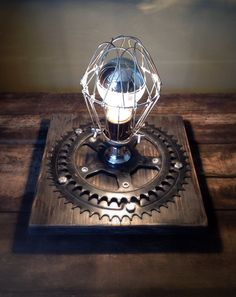 Industrial Desk Lamp Or Wall Sconce - Steampunk, Light Fixture, Table Lamp, Night Light, Trouble Cage Light