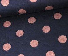 Jacquard - Muster - Punkte - Nachtblau