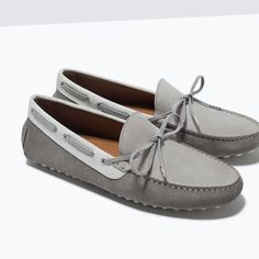 ZARA - MAN - LEATHER DRIVING SHOES WITH BOW DETAIL